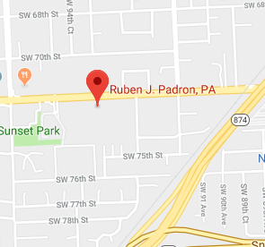 Ruben J Padron Map